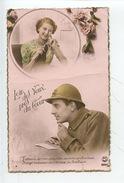 """Loin Des Yeux Près Du Coeur """"j'évoque Des Mes Yeux..."""" Soldat écrivant Amoureuse Tricotant - Militaria"""