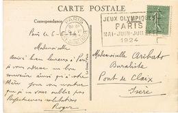 O.MEC. FLIER PARIS GARE ST LAZARE JEUX OLYMPIQUES PARIS 1924 SUR CPA