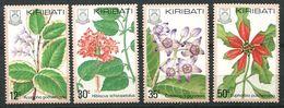 188 KIRIBATI 1981 - Yvert 42/45 - Fleur - Neuf ** (MNH) Sans Trace De Charniere - Kiribati (1979-...)