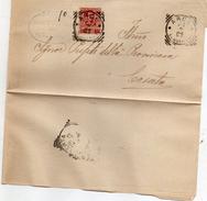 1903  LETTERA CON ANNULLO ARCE FROSINONE - Storia Postale