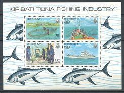 188 KIRIBATI 1981 - Yvert 56/59 BF - Bateau Poisson Peche - Neuf ** (MNH) Sans Trace De Charniere - Kiribati (1979-...)