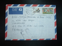 LETTRE Par AVION Pour La FRANCE TP BARRY JACKSON R 1.05 + TP 35c OBL.MEC.1993 02 18 + FAUSSE DIRECTION ST ETIENNE (42) - Afrique Du Sud (1961-...)