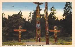 THEME AMERINDIENS / Indian Totem Poles - Stanley Park - Vancouver - Amérique