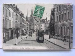 80 - AMIENS - LA RUE SAINT LEU - ANIMEE - TRAMWAY - 1907 - Amiens