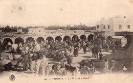 V6225 Cpa Tunisie - Le Marché à Djara - Tunisie