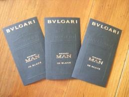 Bulgari Man In Black Parfum Lot De 3 Billet - Perfume Cards