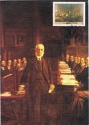 22002. Tarjeta Maxima R.S.A. Republica South Africa 1985. Inauguration Parliament - África Del Sur (1961-...)