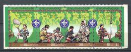 188 LIBYE 1982 - Yvert 1013/16 Se Tenant - Scout Scoutisme - Neuf ** (MNH) Sans Trace De Charniere - Libye