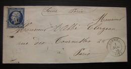 1856 Crémieu, Lettre Pour Paris - Poststempel (Briefe)