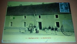 Cpa Montigny Le Roi La Gendarmerie Carte Postale 52 Haute Marne Proche Chaumont Frécourt Sarrey  Merrey - Montigny Le Roi