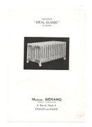 Publicité Radiateur Idéal Classic De Fenêtre Par Marcel Bérard Chalon-sur-Saone - Publicité