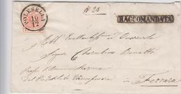 ITALIE--LOMBARDO-VENETIE --  1855 -- LETTRE RECOMMANDEE DE POLESELLA POUR FERRARE -- SANS CORRESPONDANCE -- - Lombardy-Venetia