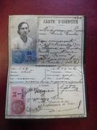 PAPIERS CARTE D' IDENTITE Des Années 1940 Videgrain Cécile Née Picard En 1910 à Ceaux En Loudun (86) Caché Police Tours - Historische Dokumente