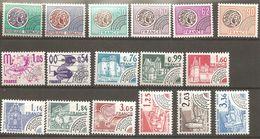 France Préoblitéré Yvert  Neuf ** Sans Charniére 17 Timbres 125, 129, 138, 140 à 142, 146, 148,  - Départ Petit Prix - 1989-....