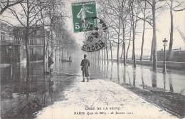 LES INONDATIONS DE 1910 - CRUE DE LA SEINE PARIS : Quai De Billy - CPA - 28 Janvier 1910 - Inondations De 1910