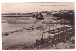 Saint Malo - Le Pont Roulant à Marée Basse - Saint Malo