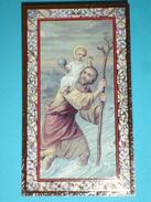 N°145 - S.CRISTOFORO - Santino Cornice ORO - F.lli Bonella - FB - Serie 734-I.G. - Images Religieuses