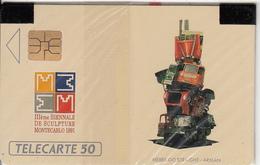 MONACO - 3e Biennale De La Sculpture, Tirage 11000, 04/91, Mint - Monaco