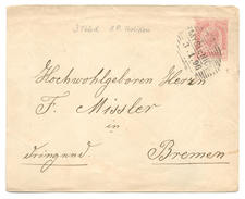 Ganzsache österreichisch Polen, Galizien, Myslenice 1896 Nach Bremen - Ganzsachen