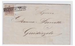 ITALIE -- LOMBARDO-VENETIE --1852-- LETTRE DE MILAN POUR GUIDIRZOLO- - Lombardo-Vénétie