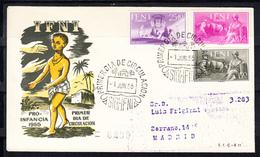 IFNI 1954 FDC  SOBRE 1er DIA. PRO INDIGENAS   EDIFIL Nº 122/124.  CN1152 - Ifni