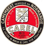 ETIQUETTE DE CAMEMBERT   MOULIN DE CAREL 14 AP OU 14 654 - Cheese