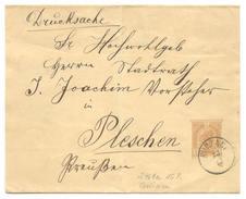 Ganzsache Schleife österreichisch Polen, Galizien, Kurzany Ca. 1898 Nach Pleschen, Schlesien - Ganzsachen