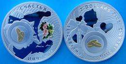 NEW NIUE ISLAND 2012  2 DOLLARI SPOSI  NICHEL COLORED FONDO SPECCHIO SUVENIR - Niue
