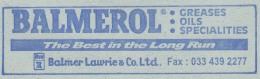 Advertisement, 'Balmerol For Greases, Oil,' Used For Industry, Transport Car Motorbike Etc., Energy Unused Inland Letter