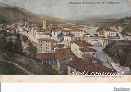 CASTELNUOVO DI GARFAGNANA-PANORAMA-VIAGGIATA 1909 X PIEVEPELAGO -ORIGINALE ANTICA 100% - Massa