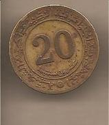 "Algeria - Moneta Circolata Da 20 Centesimi ""Fao"" - 1972 - Algeria"
