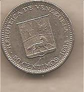 Venezuela - Moneta Circolata Da 50 Centesimi - 1965 - Venezuela