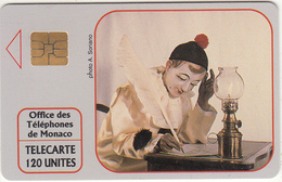 "MONACO - Pierrot L""Ecrivain(No A1A5576), Tirage %20000, 10/91, Used - Monace"