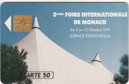MONACO - 3eme Foire Internationale De Monaco, Tirage 10000, 09/91, Used