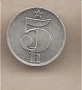 Cecoslovacchia - Moneta Circolata Da 5 Haleru - 1979 - Cecoslovacchia