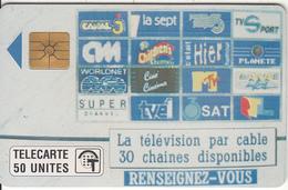 MONACO - Tele Cablee(50 Unites), Tirage %50000, 01/91, Used