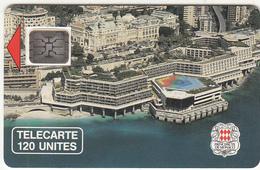 MONACO - Palais Des Congres(120 Unites), Chip SC5, CN : 14874, Tirage %10200, 03/90, Used