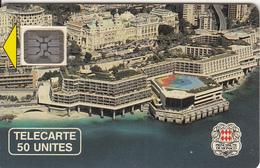 MONACO - Palais Des Congres(50 Unites), Chip SC5, CN : 14885, Tirage %10200, 03/90, Used