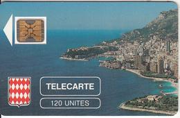 MONACO - Rocher De Monaco, First Issue 120 Unites, Chip SC4, CN : 106774, Tirage %10200, 08/89, Used