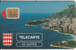 MONACO - Rocher De Monaco, First Issue 50 Unites, Chip SC3, CN : 107641, Tirage %5000, 08/89, Used