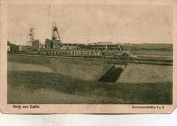 (Allemagne) HELFTA Gruss Aus Hermannschachte, Mine Chevalement Oblitéré P K Mulhausen Et Helfta En  1916 - Duitsland