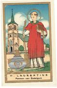 S. LAURENTIUS - Neo-gotisch Prentje / Image Néo-gothique - ZEDELGEM - Edit. Lombaerts - Andachtsbilder