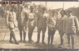 CARTE PHOTO : LE 2eme REGIMENT SOLDATS GRADES CAPORAL COLONEL GENERAUX LIEUTENANT GUERRE SOLDATS CHASSEURS ALPINS - Régiments