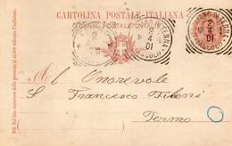 1901 CARTOLINA CON ANNULLO MAGLIANO DI TENNA ASCOLI - Interi Postali