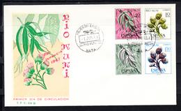 RIO MUNI 1967 FDC  SOBRE 1er DIA. PRO INFANCIA  FLORA      EDIFIL Nº 76/79.   CN1180 - Río Muni