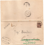 1911 LETTERA CON ANNULLO CREMONA + PAVONE DEL MELLA BRESCIA - Storia Postale