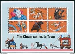 2000 Sierra Leone Circo Circus Cirque Tigri Tigers Set + Block MNH** RR45 - Sierra Leone (1961-...)