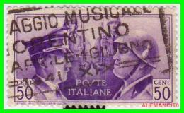 ITALIA   -  SELLOS  AÑO 1941 HITLER  CON MATASELLO MUY RARO - 1900-44 Victor Emmanuel III