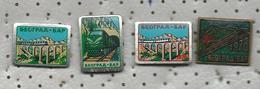 Railway Line Belgrade - Bar ( Montenegro ).Lot 4 Pins.Trains,Locomotive - Transportation