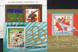 Olympiade Montreal 1976 Äquatori.Guinea Bl.223/4+227 O 12€ Hürden-Lauf Turnen Volleyball Gold Sheets Ecuator.Africa - Guinée Equatoriale